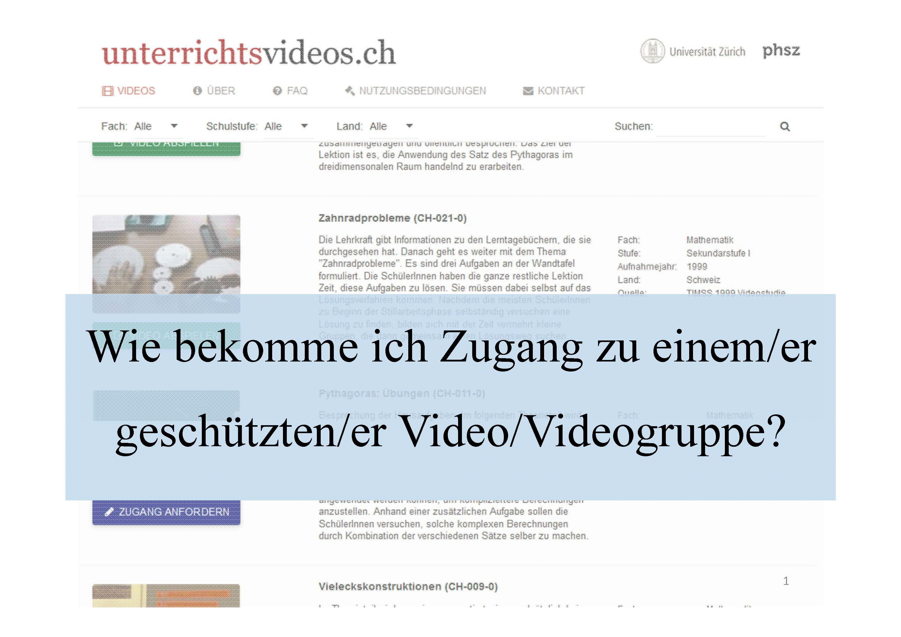 unterrichtsvideos.ch